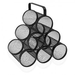 Bottle rack Pyramid 6 compartments Steel (18,5 x 30 x 28 cm)